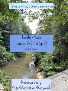 Tashlich Yoga @ Online via Zoom